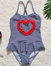 Sexy Navy+white Stripe Pattern Decorated Swimwear