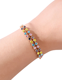 Fashion Multi-color Full Diamond Decorated Bracelet