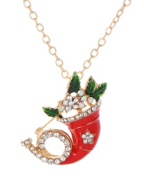Fashion Gold Color Full Diamond Decorated Necklace