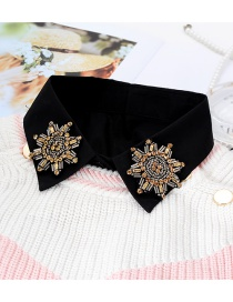 Fashion Black Geometric Shape Decorated Fake Collar