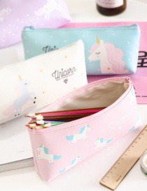 Fashion Pink Unicorn Pattern Decorated Pencil Bag
