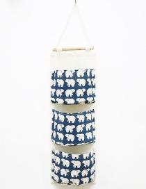Fashion Blue Bear Pattern Decorated Storage Bag