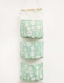 Fashion Green Chopsticks Pattern Decorated Storage Bag