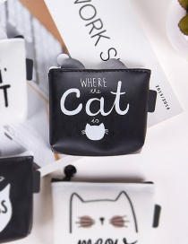 Fashion Black Cat Pattern Decorated Wallet