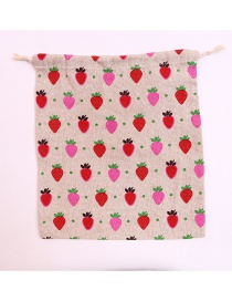 Fashion Multi-color Strawberry Pattern Decorated Storage Bag