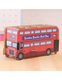 Fashion Red Bus Shape Decorated Storage Box