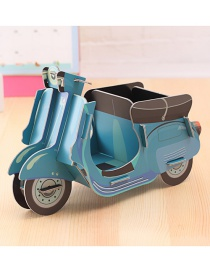 Fashion Blue Motorcycle Shape Decorated Storage Box
