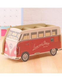 Fashion Multi-color Bus Shape Decorated Storage Box