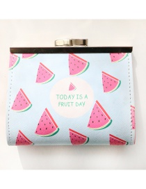 Fashion Red+blue Watermelon Pattern Decorated Wallet
