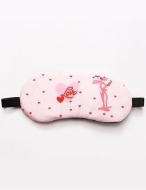Fashion Pink Heart&leopard Pattern Decorated Eyepatch