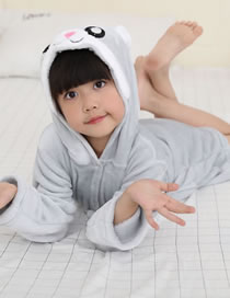 Fashion Gray Rabbit Shape Decorated Pajamas