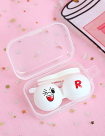 Fashion White Smile Pattren Decorated Contact Lens Box
