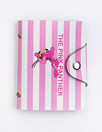 Fashion Pink+white Stripe Pattern Decorated Card Holder