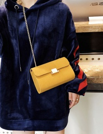 Fashion Yellow Square Shape Design Bag