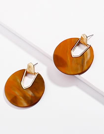 Fashion Orange Hollow Out Design Earrings