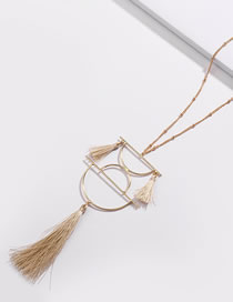 Fashion White Tassel Decorated Necklace
