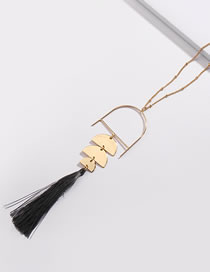 Fashion Black Tassel Decorated Necklace