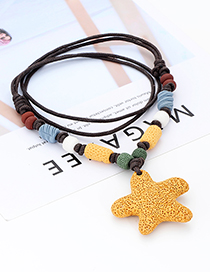 Fashion Orange Star Shape Decorated Necklace