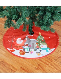Fashion Red Snowman Pattern Decorated Christmas Tree Accessories(90cm)