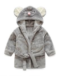 Fashion Gray Mouse Shape Decorated Pajamas