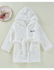 Fashion White Pure Color Decorated Pajamas