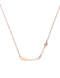 Fashion Rose Gold Arrow Shape Decorated Necklace