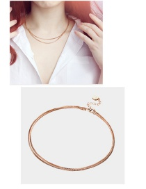 Fashion Gold Color Pure Color Decorated Choker