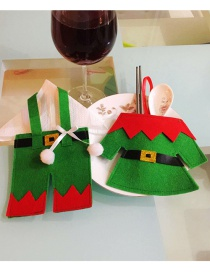 Fashion Green Elf Shape Decorated Cutlery Cover