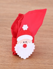 Fashion Red Santa Claus Shape Decorated Napkin Cover