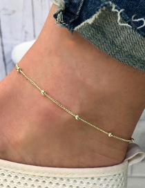 Fashion Gold Color Pure Color Decorated Anklet