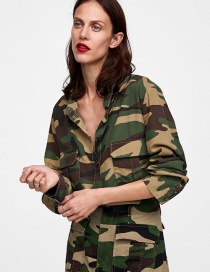 Fashion Camouflage Camouflage Pattern Decorated Shirt