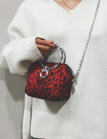 Fashion Red Leopard Pattern Decorated Bag