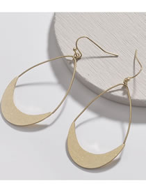 Fashion Gold Color Pure Color Decoated Earrings