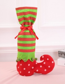 Fashion Red Sock Pattern Decorated Christmas Gift Bag