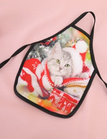 Fashion Red Cat Pattern Decorated Christmas Bottle Cover