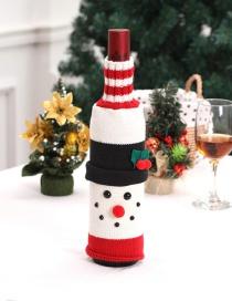 Fashion Red Snowman Shape Decorated Christmas Bottle Holder