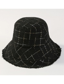 Fashion Black Grid Pattern Design Fisherman Hat