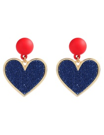 Elegant Red Heart Shape Decorated Simple Earrings