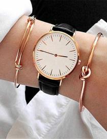 Fashion Rose Gold Pure Color Decorated Bracelet