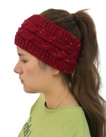 Fashion Red Color Matching Decorated Hat