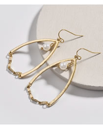 Simple Gold Color Pearl Decorated Earrings
