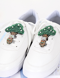 Fashion Green Mushroom Shape Decorated Shoes Accessories