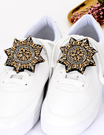 Fashion Champagne Bead&diamond Decorated Shoes Accessories