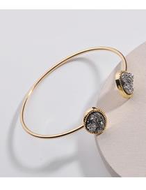 Fashion Gun Black Oval Shape Decorated Bracelet