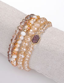 Fashion Purple Bead Decorated Bracelet (4 Pcs)