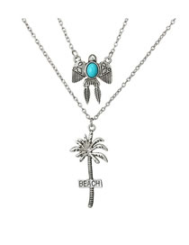 Fashion Silver Color Tree Shape Decorated Necklace