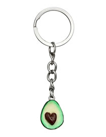 Vintage Green Water Drop Shape Pendant Decorated Keyring