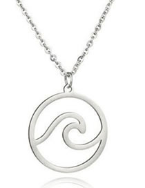 Fashion Silver Color Round Shape Pendant Decorated Necklace