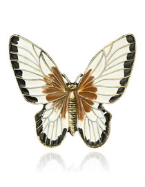 Fashion White Butterfly Shape Design Simple Brooch
