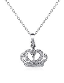 Fashion Silver Color Crown Shape Decorated Necklace